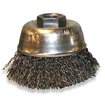 US Forge 91132 Cup Brush Crimped 3-Inch by M10 by 1-1//2-Inch 0.014 Wire