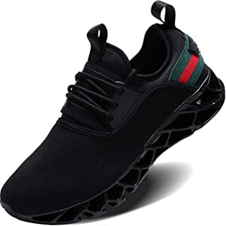 Wonesion Mens Sport Fitness Workout Shoes Comfortable Slip on Casual Sneakers for Men Boys