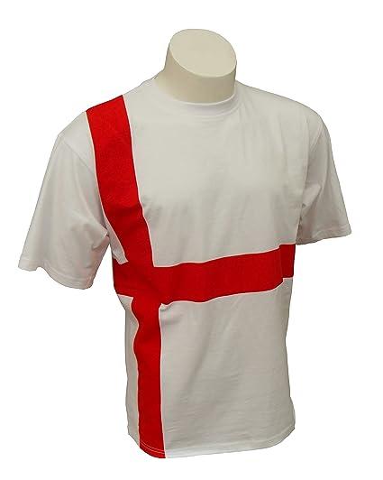 Cruz de San Jorge Selección de fútbol de Inglaterra T-Camiseta de Manga Corta