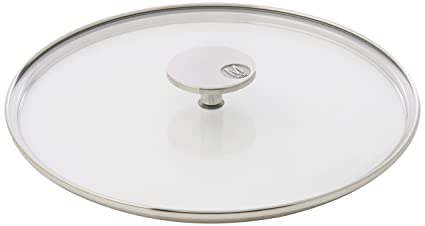 Mauviel Made In France M360 531826 102 Inch Glass Lid With Cast Stainless Steel