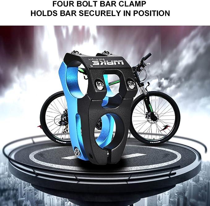 Ggoddess MTB Stem 31.8 x 50mm 0/° Bike Handlebar Stem Riser MTB Stem Suitable for Mountain Bike Road Bike BMX MTB