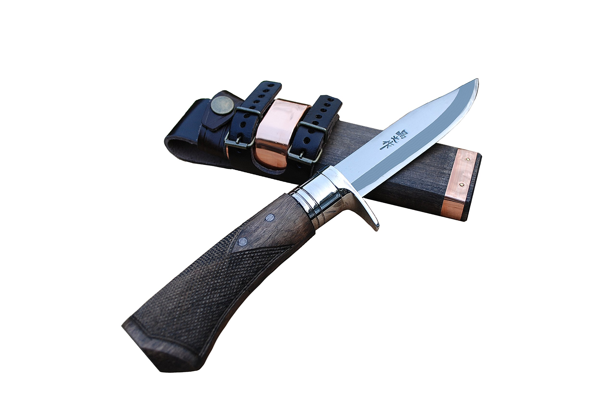 Masano Outdoor Sword Hatchet 120 Blue2 (Stainless guard) Checker (tautodoa-917)