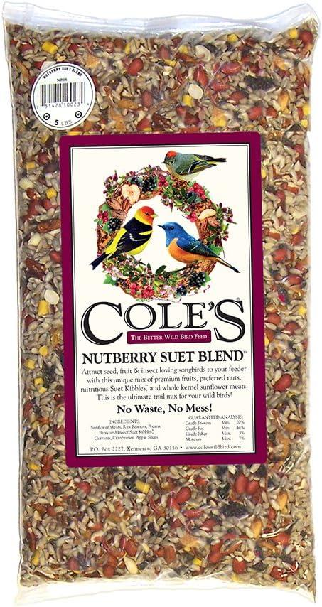 Cole's NB10 Nutberry Suet Blend Bird Seed, 10-Pound