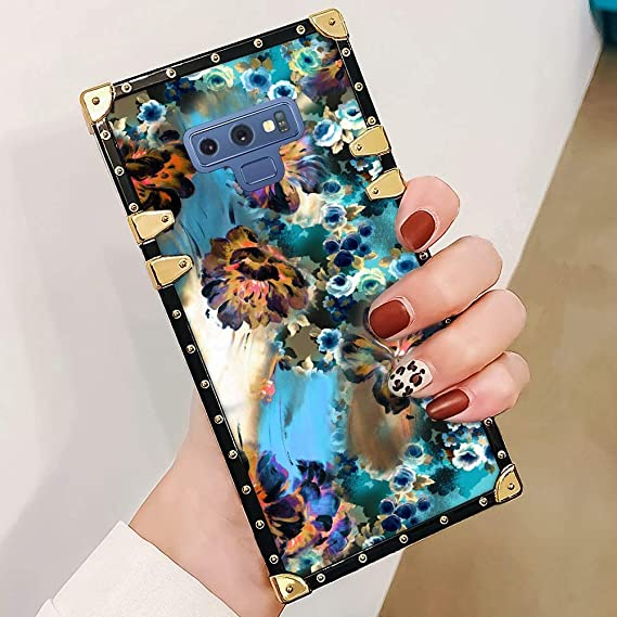 Amazon com: Drawing Flower Square Case for Samsung Galaxy