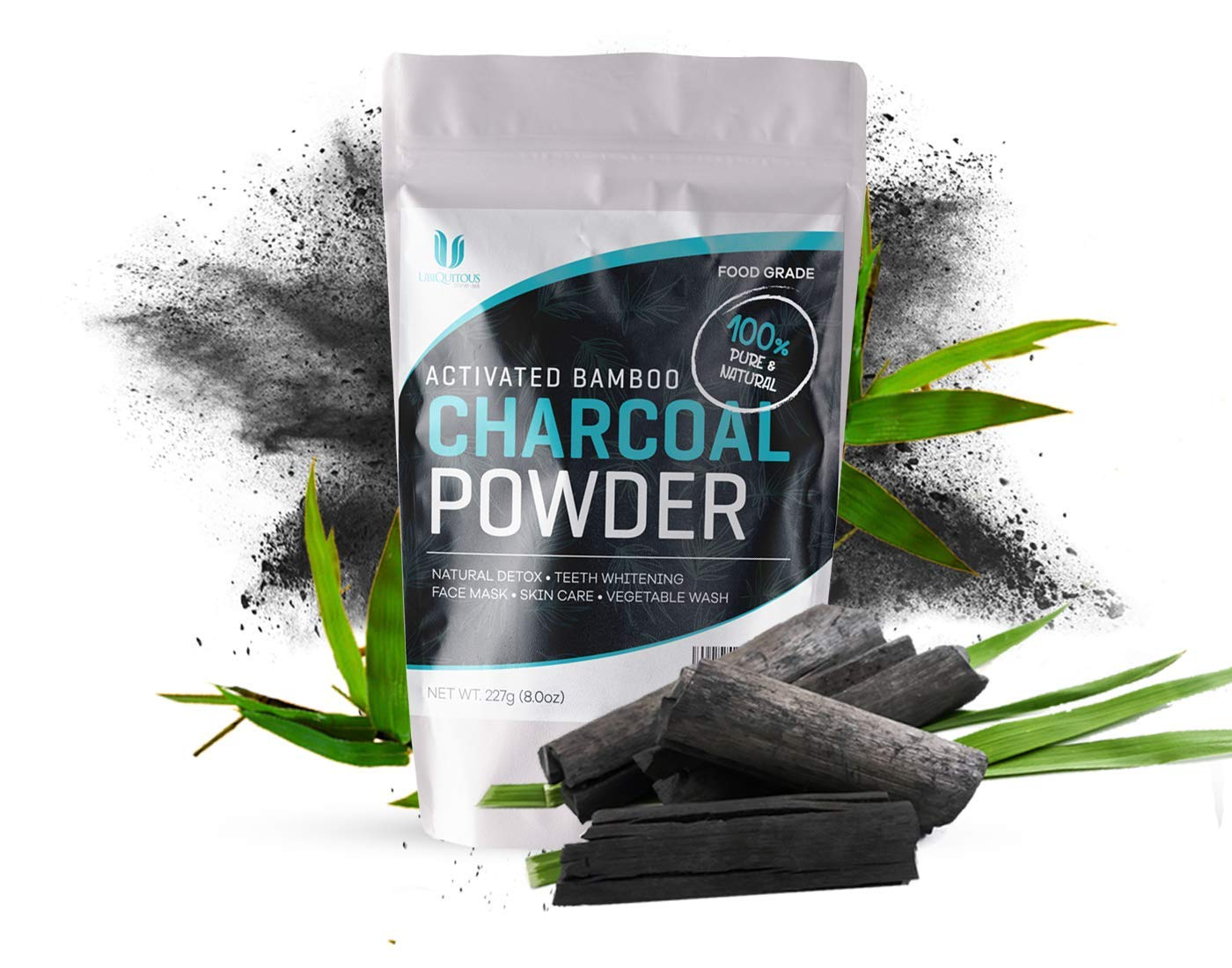 Activated Bamboo Charcoal Powder, Food Grade, Active Charcoal for Teeth Whitening, Baking, Soap Making. Big Bulk Bag Charcoal Powder. Zone – 365