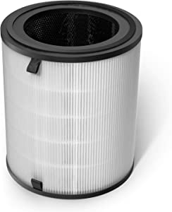 LEVOIT 3-in-1 Tower Replacement LV-H133 Air Purifier, Premium True HEPA & Activated Carbon Filters Set, LV-H133-RF, White
