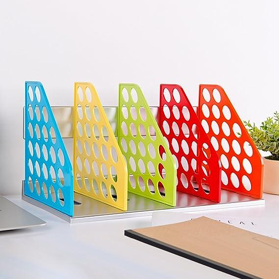 Portariviste creativo con 4 scomparti rimovibili raccoglitore per cataloghi in plastica cartelline organizer da scrivania per riporre documenti
