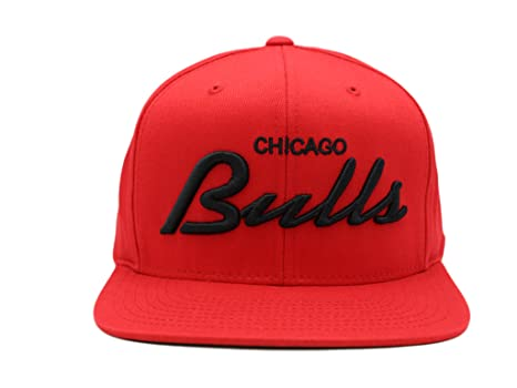 4b230e72842 Image Unavailable. Image not available for. Color  Adidas Chicago Bulls NBA  Structured Red Flat Bill Snapback Cap