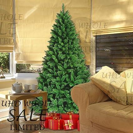 Tall Slim Christmas Tree.Funkybuys Tall Slim Green Colorado Spruce Artificial Christmas Tree 150cm 1 5m 5ft