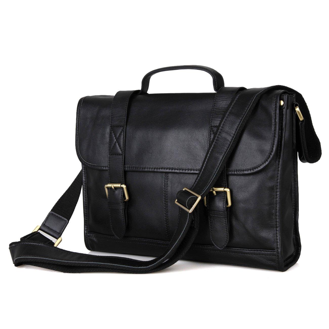 Men's Vintage Genuine Leather Laptop Briefcase Messenger Bag handbag Purse