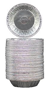 "MontoPack Disposable 5"" Aluminum Foil Tart/Pie Pans (50 Pack)"