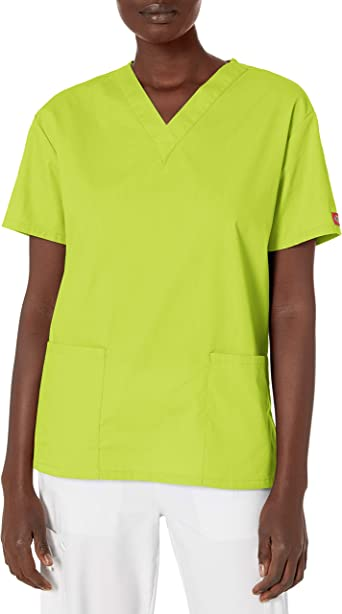 Dickies EDS Signature Scrubs 86706 - Camiseta con cuello en V para mujer (talla 2X-5X)