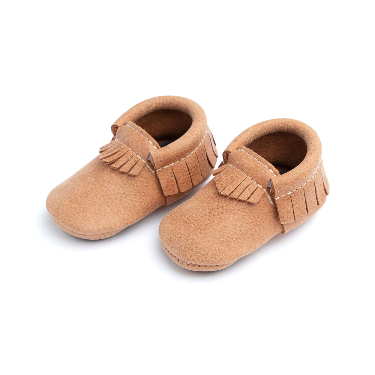 Freshly Picked - Soft Sole Leather Moccasins - Baby Girl Boy Shoes - Size 3 Zion Tan by Freshly Picked