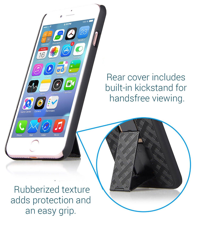 iPhone 8//iPhone 7 Fall Aduro Combo Shell /& Holster Fall/ Swivel Belt Clip Apple iPhone 8/und iPhone 7/ /Super Slim Shell Schutzh/ülle mit integriertem St/änder schwarz