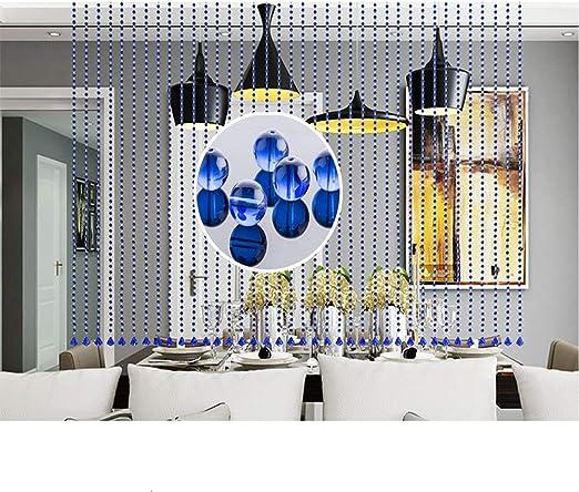 GDMING 20 Hilos Color Cortinas De Hilos para Puertas Cristal Cortina De Cuentas Interior Decoración Tabique Decoracion Cortinas Flecos De Cuentas,Personalizable: Amazon.es: Hogar