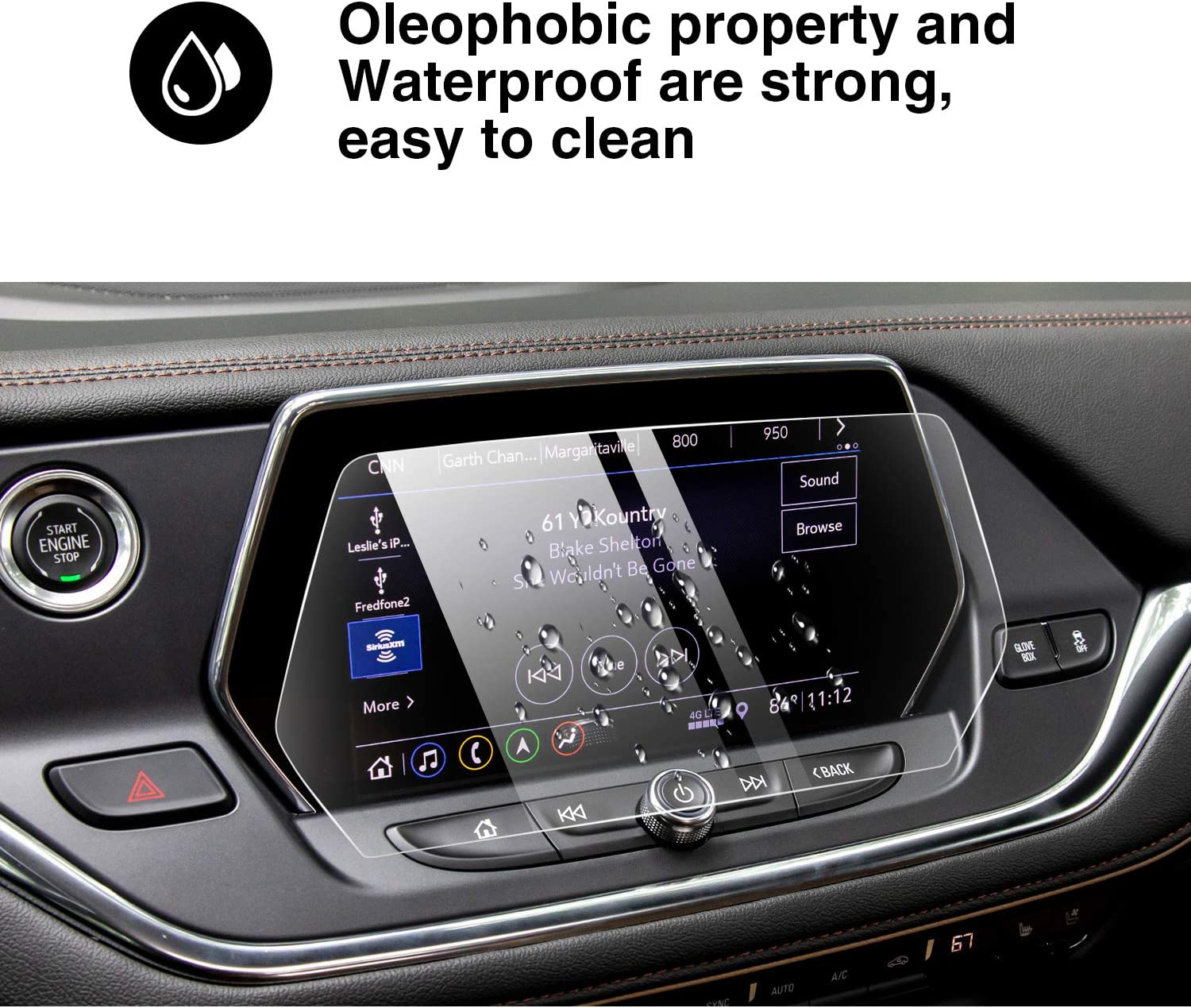 YEE PIN 2019 Blazer Screen Protector for 2019 2020 Blazer Center Control Touchscreen Navigation 9H Anti-Scratch and Shock Resistant 8 Inch