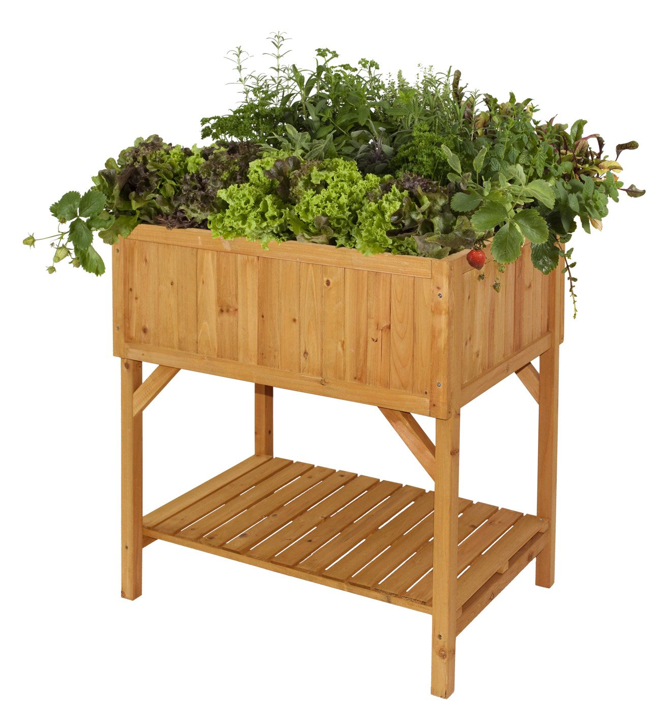 Table With Drink Trough High Level Wooden Trough Planter Table Raised Bed Ideal For Herbs
