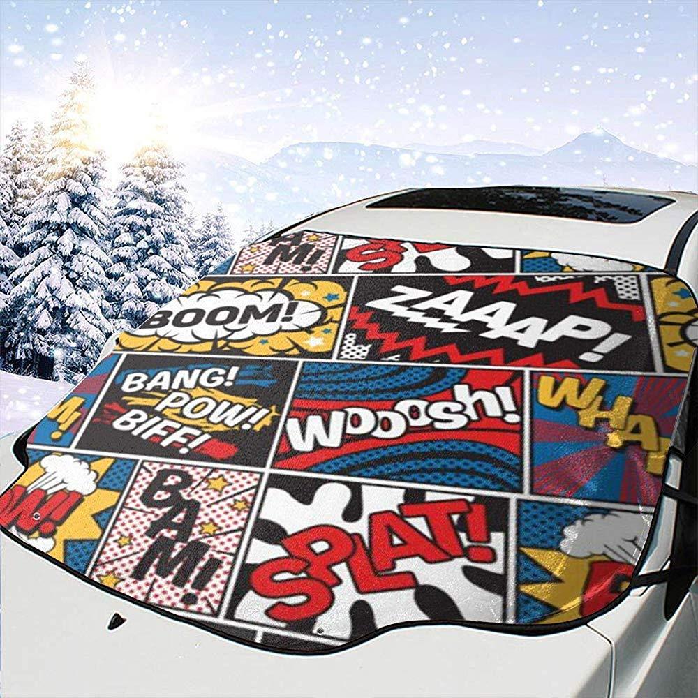Hiram Cotton Car Sunshade Slogans Auto Windschutzscheibe Sonnenschutz Abdeckung Vorne Wasser Sonnenlicht Schneedecke