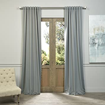 Half Price Drapes BOCH 174402 108 Blackout Curtain, Neutral Grey