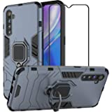 EasyLifeGo for Realme XT/Realme X2 Kickstand Case with Tempered Glass Screen Protector [2 Pieces], Hybrid Heavy Duty…