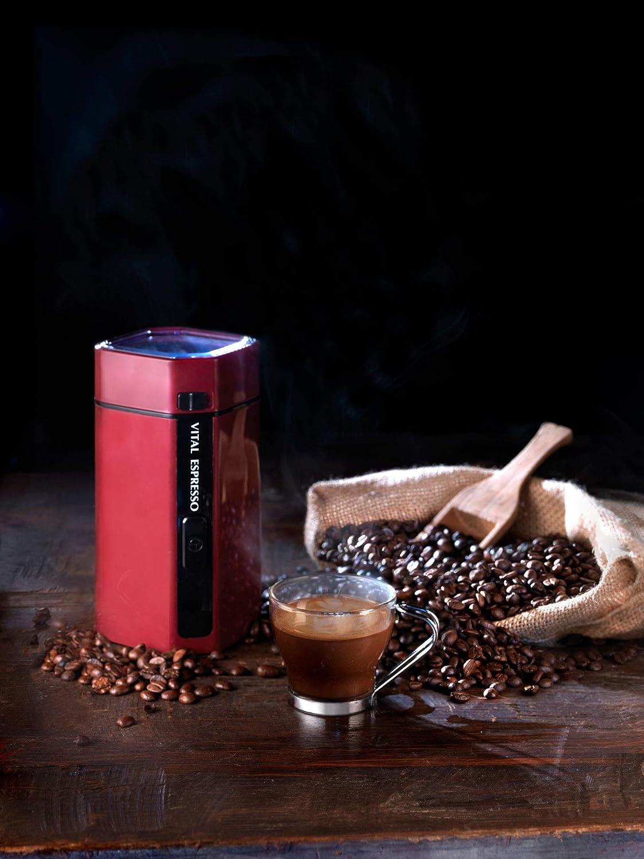 Molinillo de café, frutos secos y especias.. Potencia 150 watios, Capacidad 50 gr., Cuchillas anti-desgaste de acero inoxidable. Vital Espresso ...