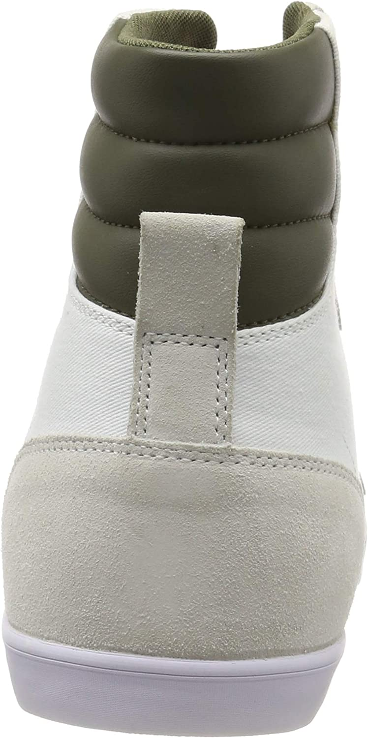 Hummel Men's Hi-Top Trainers White (White/Green 9208)