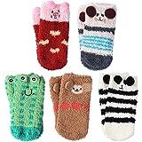 VBIGER Calcetines de Invierno Calcetines de Piso Calientes para Niños y Niñas de 0-1 Años y 1-3 Años Vellón de Coral…