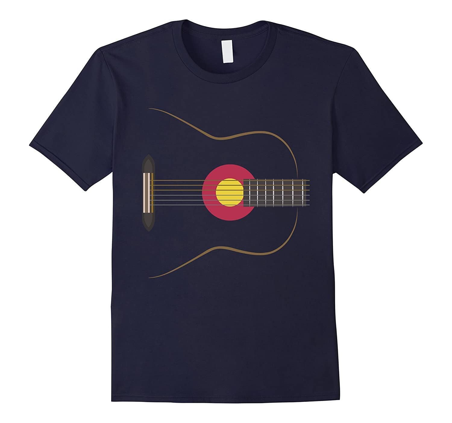Colorado Guitar Rocks T-Shirt, Colorado Flag Guitar gift-BN