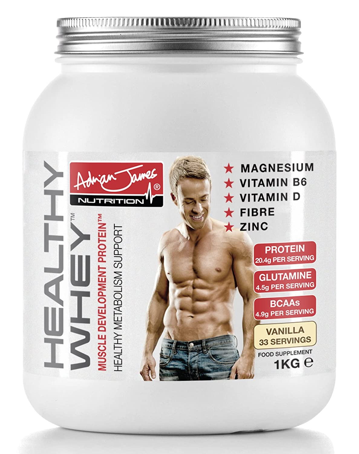 Adrian James Nutrition Healthy Whey Protein Powder Chocolate 1 Susu Ensure Kg Health Personal Care