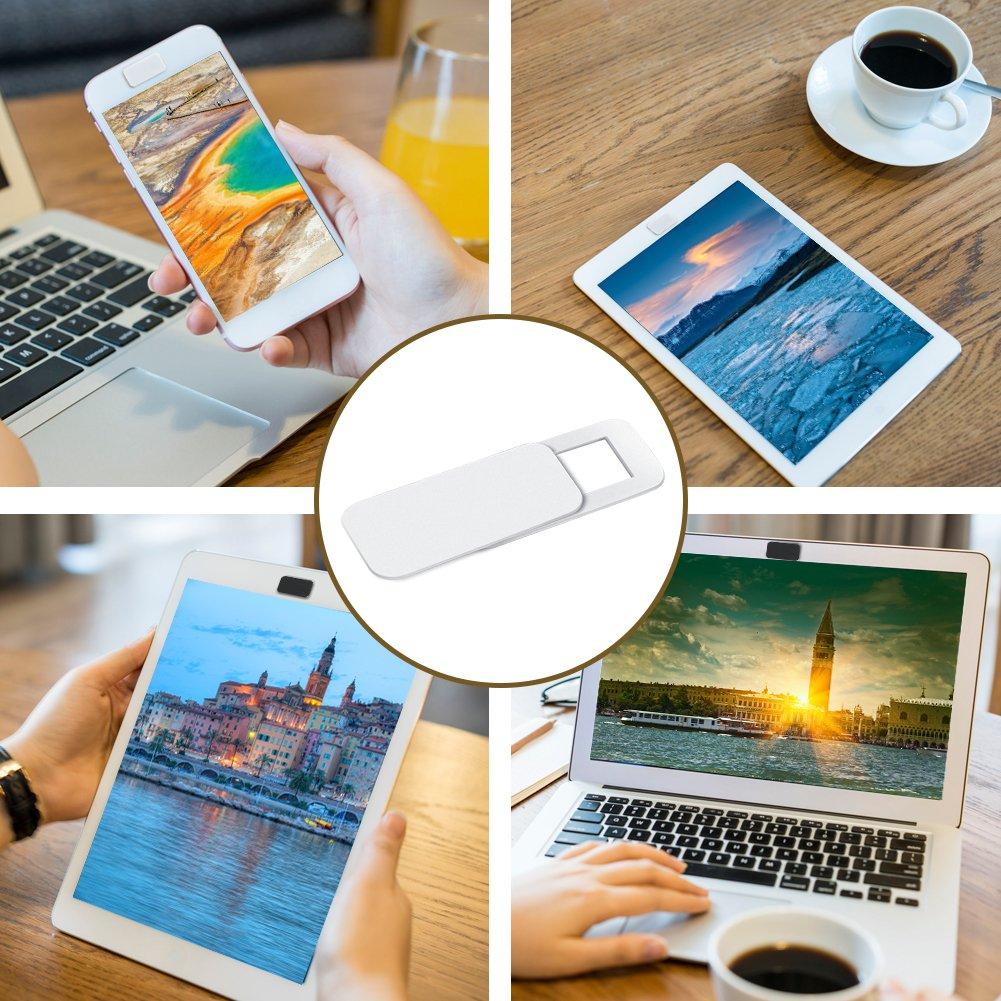 Tintelek Webcam covers (3 Pack) Camera Cover for iPhone, iPad, Laptop, Mac, Tablet, Desktops (2 Black+1 White)