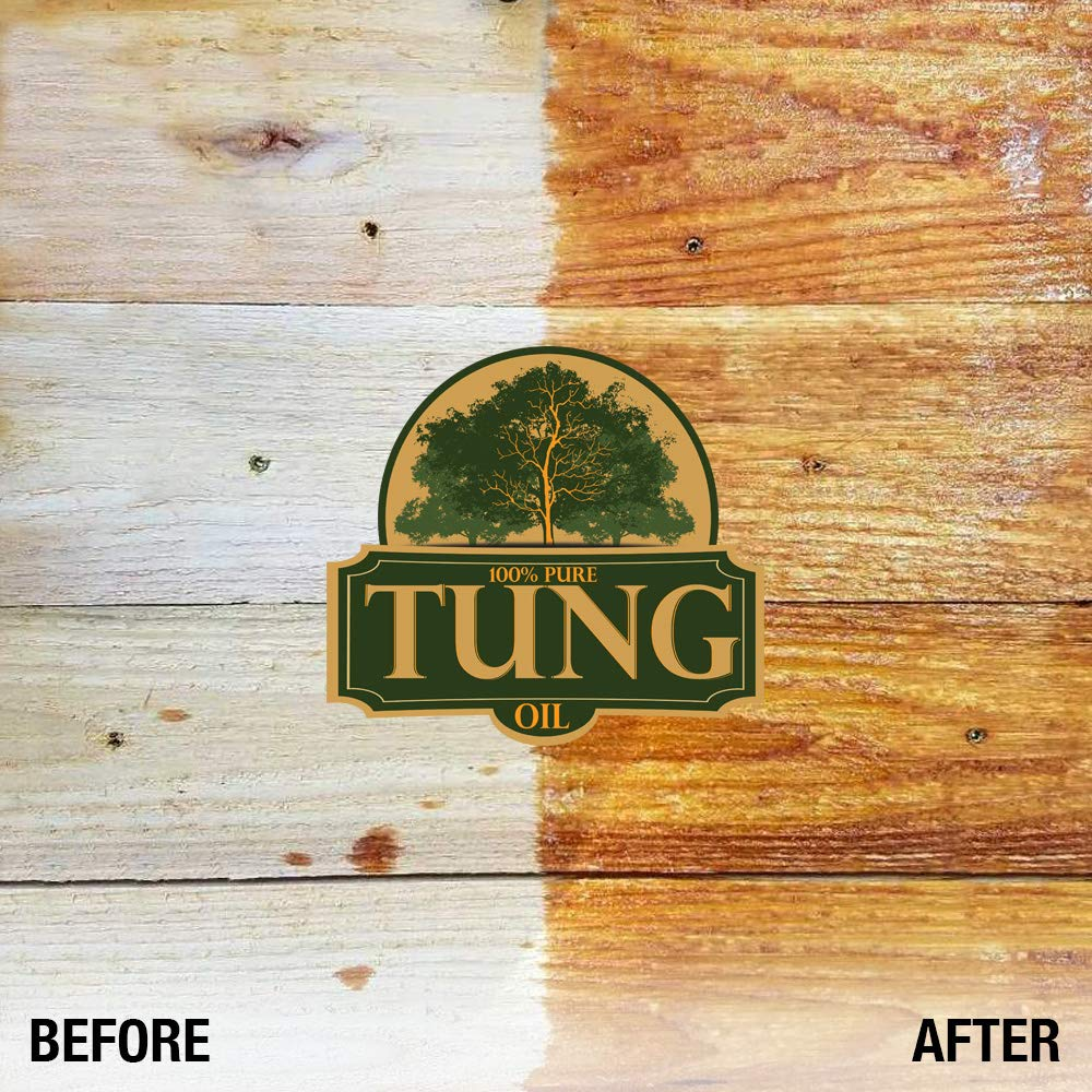 100% Pure Tung Oil Finish Wood Stain & Natural Sealer for All Types of Wood (12 x 32 oz Case) by FDC Chem (Image #5)