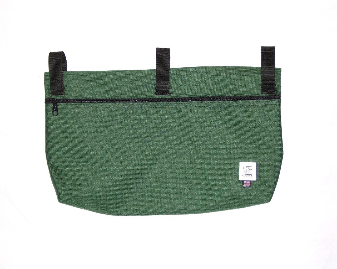 Handi Pockets 2b6fg Storage Accessory Walker, Cordura, Forest Green with Zipper