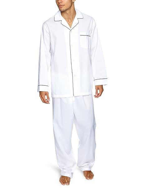 BROOKS BROTHERS - Pijama para hombre, talla XL, color blanco