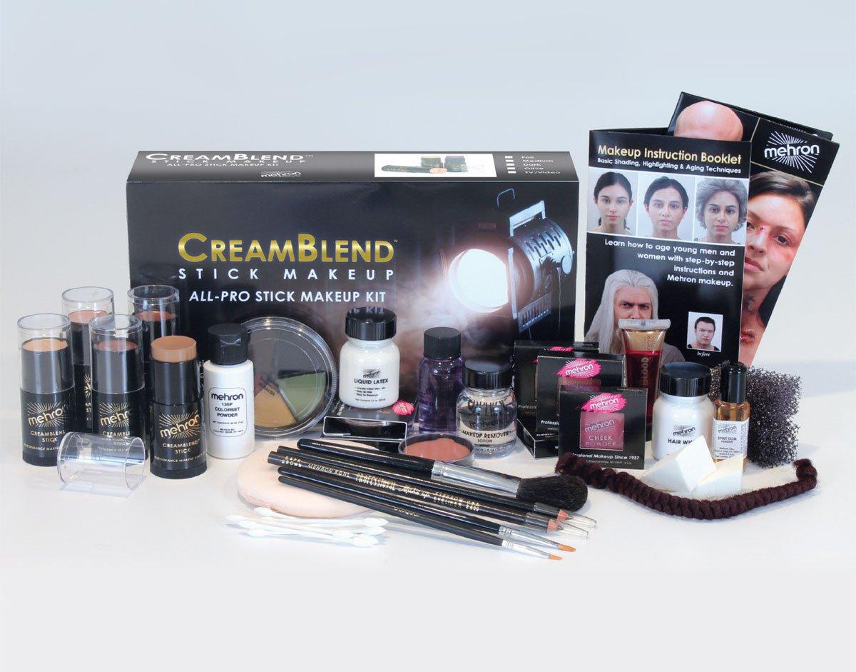 Mehron Makeup Creamblend All-Pro Student Makeup Kit (Fair)