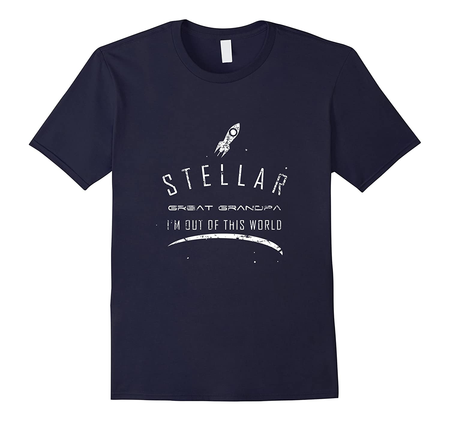 Mens Stellar Great Grandpa Shirt Cute Space Gift-Vaci