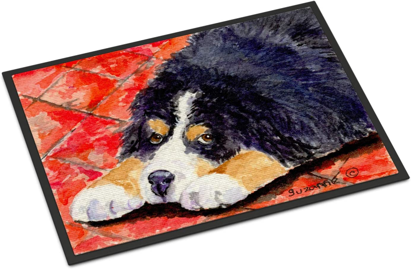 Caroline s Treasures SS8842MAT Bernese Mountain Dog Indoor Outdoor Mat 18×27 Doormat, 18H X 27W, Multicolor