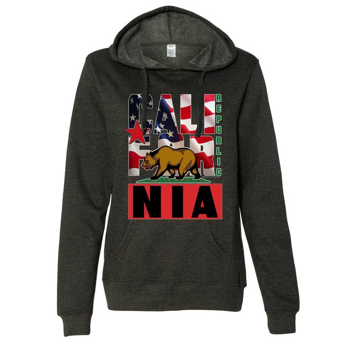 Dolphin Shirt Co American California Republic Ladies Lt.//Wt Hoodie