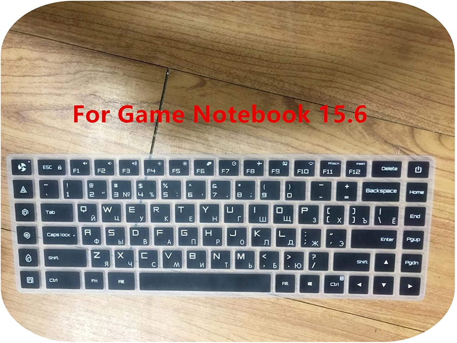 Russian Keyboard Stickers Silicone Spanish Keyboard Cover for Xiaomi Mi Notebook Air 12.5 13.3 Pro 15.6 Skins Protector Film-Clear 12 Inch