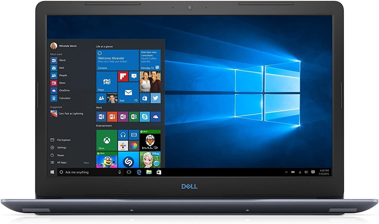 2020 Premium Dell G3 15.6 Inch FHD Display Gaming Laptop (Intel Core i5 2.3GHz up to 4.0 GHz, 8GB DDR4 RAM, 128GB SSD + 1TB HDD, Nvidia GTX 1050Ti 4GB, Backlit Keyboard, Bluetooth, WiFi, Windows 10)