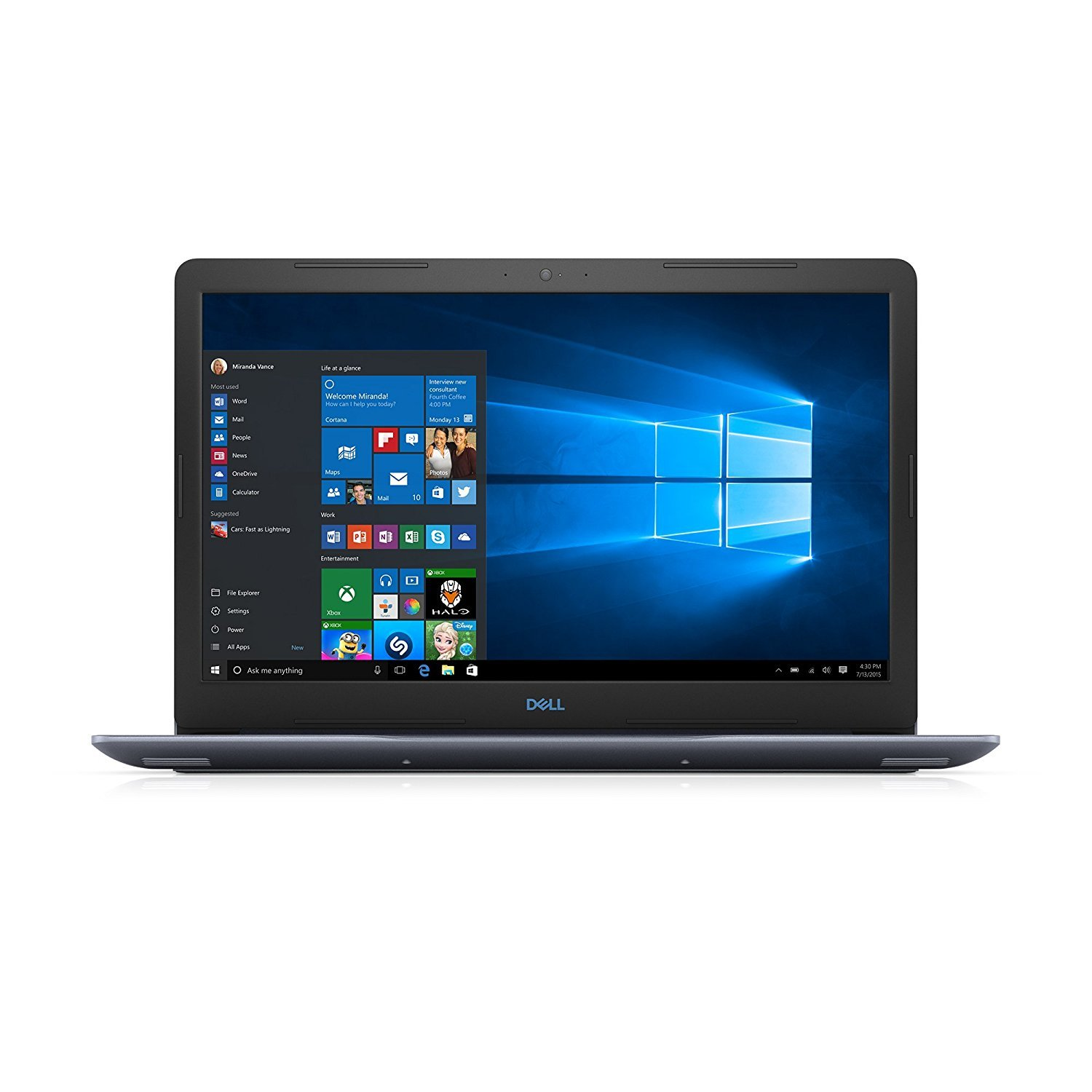 2018 Premium Dell G3 15.6 Inch FHD Display Gaming Laptop Intel Core i5 2.3GHz up to 4.0 GHz, 8GB DDR4 RAM, 128GB SSD 1TB HDD, Nvidia GTX 1050Ti 4GB, Backlit Keyboard, Bluetooth, WiFi, Windows 10