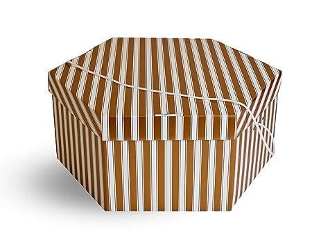 Wedding Hat Storage Box. 2 Colour Choices. Large Gold U0026 White Or Plain Black