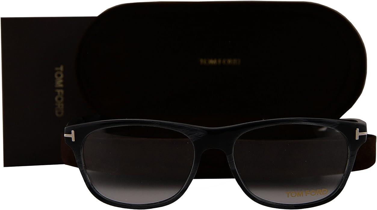 Tom Ford FT5431 Eyeglasses 53-16-145 Gray Horn Brown 064 TF5431
