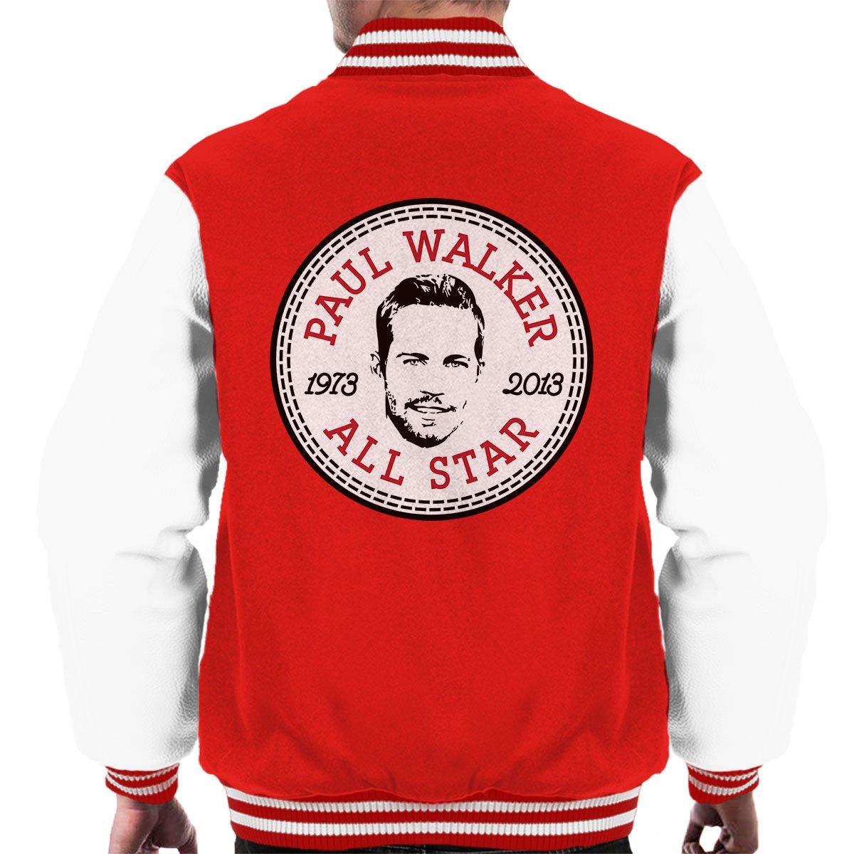 Paul Walker All Star Converse Logo Men's Varsity Jacket