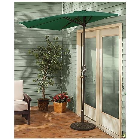 Amazon.com : CASTLECREEK 8' Half Round Patio Umbrella, Hunter Green :  Garden & Outdoor - Amazon.com : CASTLECREEK 8' Half Round Patio Umbrella, Hunter Green