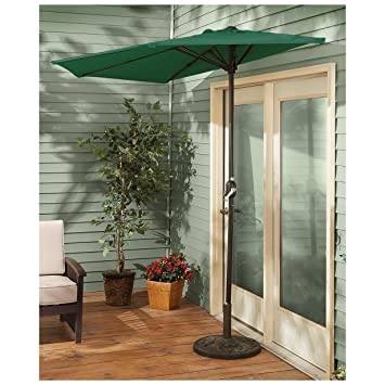 Attirant CASTLECREEK 8u0027 Half Round Patio Umbrella, Hunter Green
