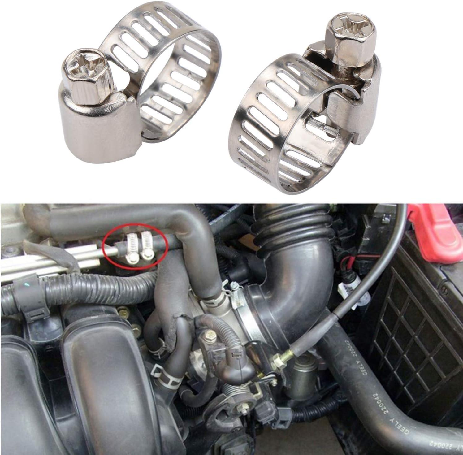 10PCS Clips f/ür Auto Moto Scooter Bike HSEAMALL Motorrad Kraftstofffilter Schlauch Kit 2m Benzinrohr Schlauchleitung 2 St/ück 6mm Benzinfilter