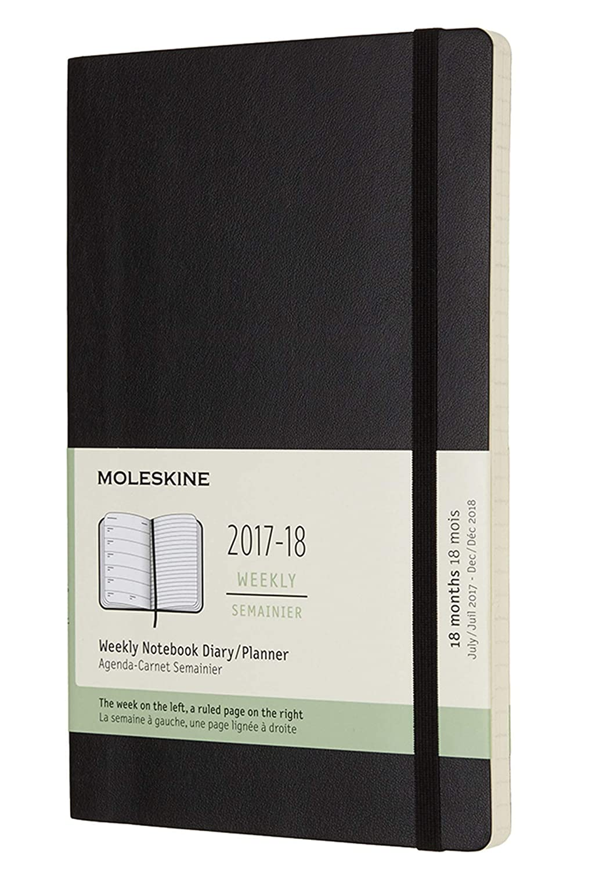 Amazon.com : Moleskine Classic 18 Month 2017-2018 Weekly ...