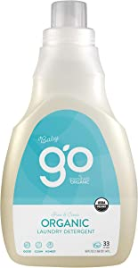 GO by greenshield organic, USDA Certified Organic Baby Laundry Detergent, Free and Clear, 50 Ounces