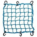 AW カーゴネット 荷物固定 ラゲッジネット 40cmx 40cm バイク 自転車用ネット キャリングネット ツーリングネット ブルー