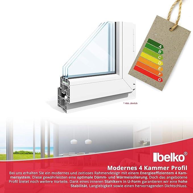 Fenster Kunststoff BxH: 50 x 50 cm Lagerware DIN rechts- 2-fach-Verglasung wei/ß Wunschma/ße ohne Aufpreis Kellerfenster